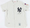 Baseball Collectibles:Uniforms, Mickey Mantle Signed New York Yankees Jersey....