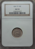 Seated Dimes: , 1841-O 10C AU53 NGC. NGC Census: (5/46). PCGS Population: (12/38).Mintage 2,007,500. ...