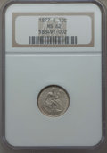 Seated Dimes: , 1877-S 10C MS62 NGC. NGC Census: (13/62). PCGS Population: (13/71). Mintage 2,340,000. ...