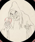 Animation Art:Production Drawing, Snow White and the Seven Dwarfs Old Hag With Apple AnimationDrawing (Walt Disney, 1937). ...