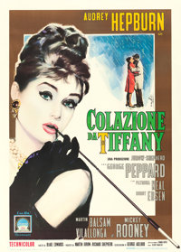 "Breakfast at Tiffany's (Paramount, 1961). Italian 2 - Fogli (39.5"" X 55"") Enzo Nistri Artwork"