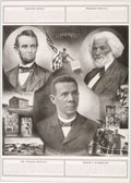 Political:Posters & Broadsides (1896-present), Abraham Lincoln, Frederick Douglass and Booker T. Washington:Uplift Poster....