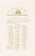 Political:Inaugural (1789-present), William Henry Harrison: Inauguration Ball Invitation....