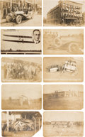 Transportation:Aviation, Aviation History: Vin Fiz Flyer Sepia Postcards....