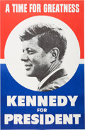 Political:Posters & Broadsides (1896-present), John F. Kennedy: Campaign Poster....