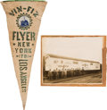 Transportation:Aviation, Aviation History: Vin Fiz Flyer Pennant and Photographic Material.... (Total: 4 Items)