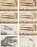 Transportation:Aviation, Aviation History: Vin Fiz Flyer Postcards....