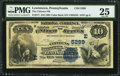National Bank Notes:Pennsylvania, Lewistown, PA - $10 1882 Value Back Fr. 577 The Citizens NB Ch. # (E)5289. ...
