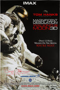 Explorers:Space Exploration, Buzz Aldrin Signed Magnificent Desolation: Walking on the Moon3D One Sheet Poster Originally from His Personal Co...