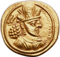 Ancients:Oriental, Ancients: SASANIAN KINGDOM. Shapur (Sabuhr) II (AD 309-379). AV dinar (19mm, 7.31 gm, 3h). Choice AU. ...