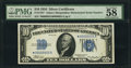 Fr. 1701* $10 1934 Silver Certificate. Mismatched Serial Numbers. PMG Choice About Uncirculated 58 EPQ