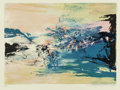 Prints & Multiples, Zao Wou-Ki (Chinese, 1921-2013). Untitled, 1986. Etching with aquatint on Guarro paper. 14-7/8 x 22 inches (37.8 x 55.9 ...