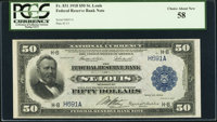 Fr. 831 $50 1918 Federal Reserve Bank Note PCGS Choice About New 58