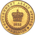 "Australia, Australia: South Australia. British Colony - Victoria gold""Adelaide"" Pound 1852 MS62 NGC,..."