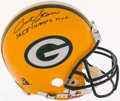 Football Collectibles:Helmets, Bart Starr Signed Green Bay Packers Full Sized Authentic Helmet....