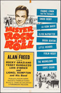 """Movie Posters:Rock and Roll, Mister Rock and Roll (Paramount, 1957). Folded, Fine/Very Fine. OneSheet (27"""" X 41""""). Rock and Roll.. ..."""