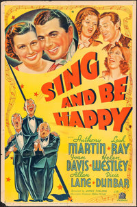 """Sing and Be Happy (20th Century Fox, 1937). One Sheet (27"""" X 41""""). Musical"""