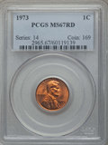 Lincoln Cents, 1973 1C MS67 Red PCGS. PCGS Population: (38/0). CDN: $265 Whsle. Bid for problem-free NGC/PCGS MS67. ...