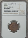 Civil War Merchants, (1861-65) Token Broas Pie Baker, New York NY, F-630L-17a, XF45 NGC.This lot also includes the following: 1863 Token M. ... (Total: 3coins)