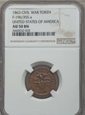 Civil War Tokens, 1863 Civil War Token, United States of America, F-196/355 a, AU50NGC. This lot also includes the following: 1863 Civil Wa... (Total:6 coins)