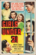 """Movie Posters:Bad Girl, Girls Under 21 (Columbia, 1940). One Sheet (27"""" X 41""""). Bad Girl....."""