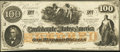 Confederate Notes:1862 Issues, CT41/316C Counterfeit $100 1862 Remainder.. ...