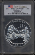 Modern Bullion Coins, 2011 25C Chickasaw Five Ounce Silver, First Strike MS69 Deep Mirror Prooflike PCGS. PCGS Population: (1916/0). NGC Census: ...