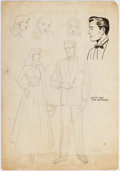 Original Comic Art:Miscellaneous, Herman Stackel Dotty and Her Boyfriend Preliminary OriginalArt (c. 1940s)....