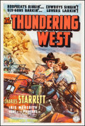 """Movie Posters:Western, The Thundering West (Columbia, 1938). One Sheet (27"""" X 41""""). Western.. ..."""