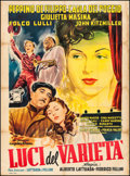 """Movie Posters:Foreign, Variety Lights (Fincene, 1951). Italian 2 - Fogli (39"""" X 55""""). Foreign.. ..."""