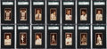 Baseball Cards:Lots, 1912 T207 Recruit Collection (99). ...