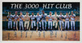Baseball Collectibles:Others, 1995 3000 Hit Club Multi-Signed Poster....