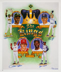 Baseball Collectibles:Others, 1990's Kings of Baseball Signed Poster....