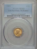 Commemorative Gold, 1903 G$1 Louisiana Purchase, McKinley Gold Dollar MS65 PCGS . NGCCensus: (397/480). PCGS Population: (602/617). CDN: $1,07...