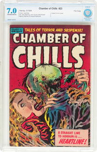 Chamber of Chills #23 (Harvey, 1954) CBCS FN/VF 7.0 Off-white to white pages