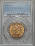 Liberty Eagles, 1893-S $10 MS62 PCGS. NGC Census: (157/22). PCGS Population: (201/70). CDN: $900 Whsle. Bid for problem-free NGC/PCGS MS62....