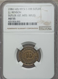 Civil War Patriotics, 1864 Our Navy MS63 Brown NGC, Fuld-241/338a; and an Undated J.J.Benson, 1st Mounted Rifles Sutler Token AU55 NGC, S&I-NY-...(Total: 2 tokens)
