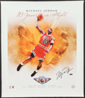Basketball Collectibles:Others, 2006 Michael Jordan Signed Flight School Canvas Print....