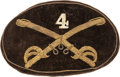 Military & Patriotic:Civil War, Civil War Officers' Large 4th Cavalry Hat Insignia....