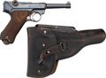 Handguns:Semiautomatic Pistol, German Erfurt Model P08 1920 / 1917 Luger Semi-Automatic Pistol with Holster.... (Total: 2 )