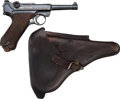 Handguns:Semiautomatic Pistol, German DWM P08 Luger Semi-Automatic Pistol with Holster.... (Total: 2 Items)