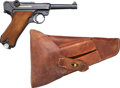 Handguns:Semiautomatic Pistol, German 42 Code 1940 Luger Semi-Automatic Pistol with LeatherHolster.... (Total: 2 Items)