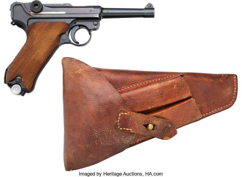 German 42 Code 1940 Luger Semi-Automatic Pistol with Leather | Lot