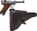 Handguns:Semiautomatic Pistol, German Mauser Banner P08 Luger Semi-Automatic Pistol withHolster.... (Total: 2 Items)