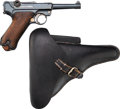 Handguns:Semiautomatic Pistol, German DWM 1920 Luger Semi-Automatic Pistol with LeatherHolster.... (Total: 2 Items)