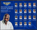 Basketball Collectibles:Others, 2008 Michael Jordan's Flight School Poster Signed by Coaching Legends....