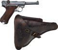 Handguns:Semiautomatic Pistol, German Mauser Banner Model P08 1940 Luger Semi-Automatic Pistolwith Holster.... (Total: 2 )
