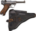 Handguns:Semiautomatic Pistol, German DWM Model 1917 Luger Semi-Automatic Pistol with LeatherHolster.... (Total: 2 Items)