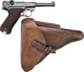Handguns:Semiautomatic Pistol, German DWM 1921 Luger Semi-Automatic Pistol with LeatherHolster.... (Total: 2 Items)