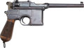 Handguns:Semiautomatic Pistol, Mauser Model 96 Broomhandle Semi-Automatic Pistol....